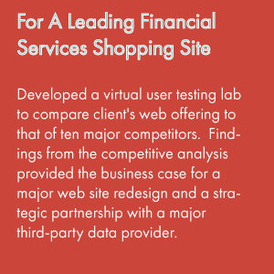 For A Leading Financial Services Comparison Shopping Site