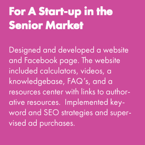 For a Start-up In the Senior Market
